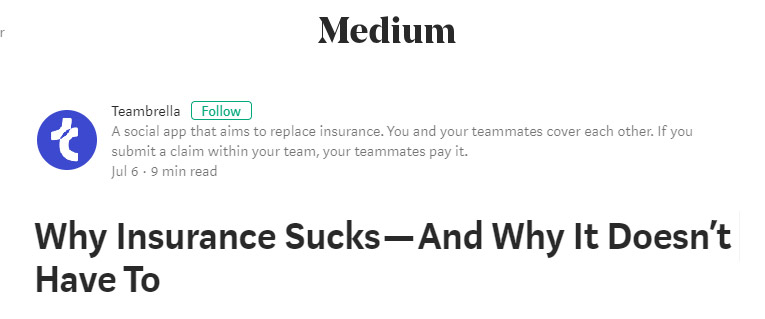 teambrella why insurance sucks project